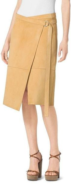 Michael Kors Collection Belted Wrap Suede Skirt ($2,995)