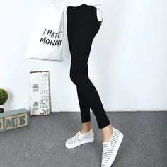 Item Type: LeggingsGender: WomenPattern Type: SolidThickness: StandardWaist Type: HighLength: Ankle-LengthMaterial: PolyFabric Type: SatinModel Number: : yes Satin Material, Slim Pants, Workout Leggings, Leggings Fashion, Black Jeans, High Waist, Fitness, Color, Clothes