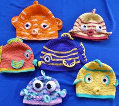 Kissy Kissy Fish Face Hat by Darleen Hopkins. Crochet pattern available for $4.50 on Ravelry.com