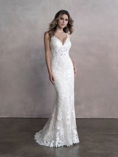 25712 Makena - This may be a new Favorite! Stunning detail and the open back are to die for! Try this beauty on at Aurora Bridal in Melbourne, FL 321-254-3880