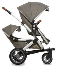 Joolz Geo Duo: this package includes the chassis, upper cot/seat for an older child, lower cot/seat for a newborn which converts to a seat as baby grows, seat fabric and extra large shopping basket. | Available in elephant grey, hippo anthracite (dark grey/coal), lobster red, turtle green, parrot blue  | £999.00 from www.mollyandboo.co.uk | #pushchair #stroller #travelsystem