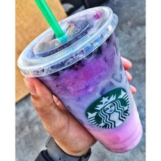 Starbucks Pink Purple Drink ❤ liked on Polyvore featuring drinks