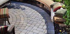 See Belgard's collection of concrete and brick pavers. Explore elegant stone patio pavers, concrete driveway pavers, paver walkways, and hardscape paving stones. Paving Slabs, Paving Stones, Small Garden Inspiration, Belgard Pavers, Interlocking Pavers, Patio Lanterns, Outdoor Flooring, Flooring Ideas, Backyard Paradise