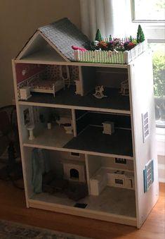 Bookshelf Dollhouse, Cheap Bookshelves, Small Stuff, Projects For Kids, 2nd Birthday, Diy Furniture, Diy Ideas, Walmart, House Ideas