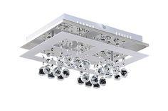 LOLA Rábalux - LED stropné svietidlo - kov+sklo