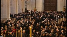 Mourners gather in St Paul's Cathedral for the funeral this morning - some 2,300 royal and political dignitaries are expected to attend alongside Baroness Thatcher's family and celebrity guests.