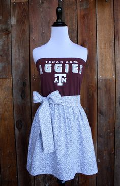 Texas A Aggies Strapless Game Day Dress
