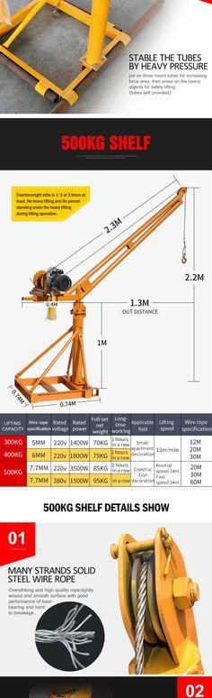 220V-1T-30M recoger grúa trinquete móvil mini grúas de elevación con alta calidad