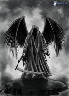 dunkel Sensenmann, schwarzen Flügeln Roses are classified as the principal things that accompany people inside Dark Reaper, Grim Reaper Art, Grim Reaper Tattoo, Grim Reaper Images, Grim Reaper Drawings, Tatuaje Grim Reaper, La Muerte Tattoo, Tattoo Tod, Angels