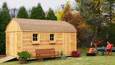 Quality Outdoor Wooden Sheds.  Custom configured to your specifications, delivered and installed
