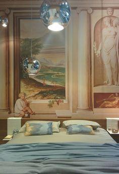 Pastel- color interior Life.  #interior #pastel #color #milan #design #bedroom #bed #classic