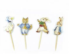 Peter Rabbit and His Friends Cupcake Toppers - Party Picks