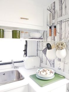 Caravan pimpen_keuken behang