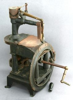 The Encyclopedia of Early American Sewing Machines Below: Bartholf, serial #10, made in 1850.This is one of the earliest known manufactured sewing machines.