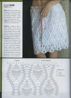 Fabulous Crochet a Little Black Crochet Dress Ideas. Georgeous Crochet a Little Black Crochet Dress Ideas. T-shirt Au Crochet, Beau Crochet, Mode Crochet, Crochet Gratis, Crochet Woman, Crochet Summer, Crochet Skirt Pattern, Crochet Skirts, Crochet Diagram