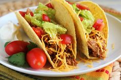 Crockpot Chicken Tacos - Way too easy to be this good!