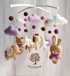 Baby Crafts, Felt Crafts, Baby Mädchen Mobile, Baby Mobiles, Scandinavian Baby, Baby Boy Cribs, Felt Baby, Baby Kind, Felt Toys