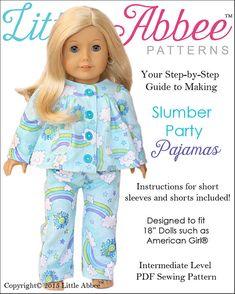 Télécharger couture patron 18 poupée pyjamas par littleabbee