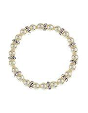Bracelet élastique orné de perles et de rondelles