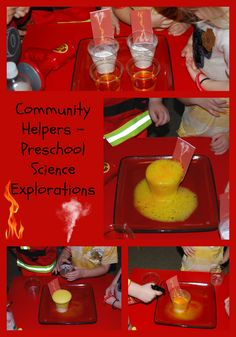 Come play to learn with a fun (and safe) BUBBLY FIRE experiment for preschoolers! Great addition for fire safety week or a community helpers theme. unit 4 Building connections with the neighborhood and community. Community Helpers Lesson Plan, Community Helpers Activities, Community Helpers Kindergarten, Fire Safety Crafts, Fire Safety Week, Fire Safety For Kids, Preschool Science, Science Activities, Preschool Fire Safety