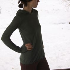 Hemp and Organic Cotton Green Mountain Hoody by MtnLotus on Etsy