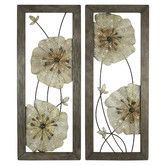 Found it at Wayfair - Marla 2 Piece Flower Wall Decor Set