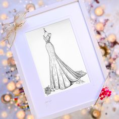 A Christmas Gift Idea she'll love! Order a personalised Wedding Dress Sketch, capturing her unique style and fashion choices from her 'red carpet' wedding day. For your wife, sister, daughter or friend. A few spaces with guaranteed Santa delivery are still available www.weddingdressink.com/shop/wedding-dress-sketch #christmasgift2020 #irishchristmasgift #irishmadegift #artforchristmas #weddingdressink #weddingdressillustration #irishgiftvoucher #bestgiftever