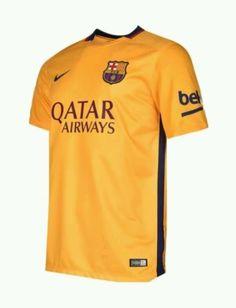 9f2ae3564 Nike FC Barcelona 2015-16 Away Jersey Youth XL Boys X-Large Yellow NWT  75