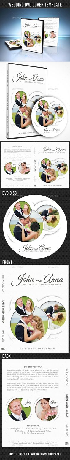 Wedding Dvd  Br Cover Vol  Print Templates Template And Cd