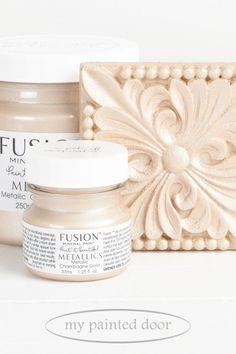 The Fusion Mineral Paint Metallic Collection is available at My Painted Door. Vintage Decor, Vintage Furniture, Diy Furniture, Metallic Painted Furniture, Mineral Fusion, Mineral Paint, French Vintage, Place Card Holders, Ninja Turtles