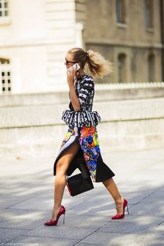 Love Mix prints #street style  OMG  street style