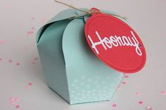 Hooray Cupcake Box by Heather Nichols for Papertrey Ink (June 2015)