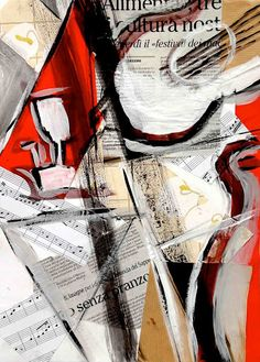 Art reinterpreted: the Cubist Collages.  The key is to DISMEMBER the objects and frame them within various planes and shapes.