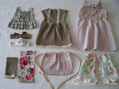 using old baby clothes for doll clothes - for those of you like me who cannot bear to part with even one precious dress