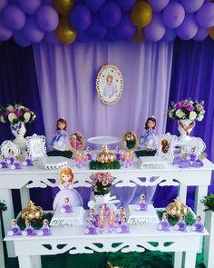 Sophia The First Birthday Party Ideas, Sofia Birthday Cake, Princess Birthday Party Decorations, Disney Princess Birthday Party, Princess Party Favors, 4th Birthday Parties, Princess Sofia Party, Princesa Sophia, Hello Kitty Birthday