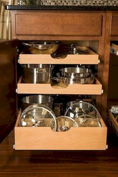 Kitchen remodel small – Kitchen solutions – Kitchen renovation – New kitchen cabinets – Smart k – Cheap Kitchen Cabinets Tips Kitchen Cabinet Organization, New Kitchen Cabinets, Kitchen Redo, Organization Ideas, Cabinet Ideas, Storage Ideas, Kitchen Pantry, Pan Storage, Storage Solutions