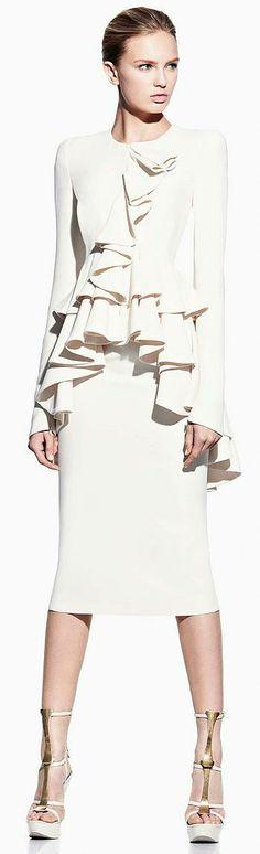 Alexander McQueen Ruffle Front Coat