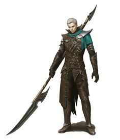 Human Male Polearm Fighter - Pathfinder PFRPG DND D&D d20 fantasy