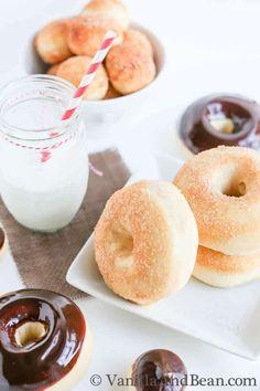 Vanilla Bean And Buttermilk Baked Doughnuts   VanillaAndBean.com