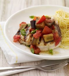 Swordfish a la Siciliana #fish #dinner #summer #healthy