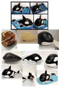 Gâteaux requin ou orque ou autres poissons