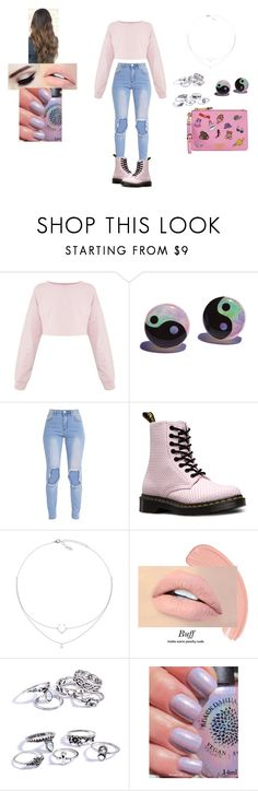 """Untitled #315"" by raven-legs ❤ liked on Polyvore featuring Dr. Martens, Moschino and casual"
