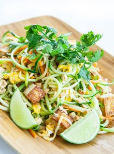 Pad Thai Zoodles Recipe // Steamy Kitchen
