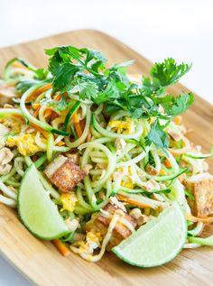Pad Thai Zoodles Recipe // Steamy Kitchen