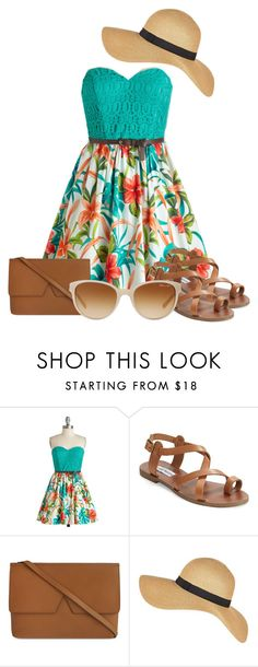 """""""Summer Sundress"""" by shadow13goddess101 ❤ liked on Polyvore featuring Steve Madden, Vince and Tiffany & Co."""