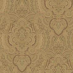 Paisley Wallcovering, Brown