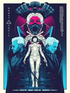 """'Ghost In The Shell' by Amien Juugo, through Reel Cinema Screen Prints. 18"""" x 24"""" giclée print in a numbered limited edition of 75 for £44.99. Go here to buy."""