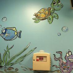 Hospital exam room - love the turtle...