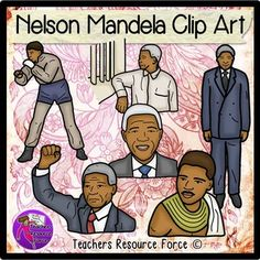 """Nelson Mandela clip artGet your own quality clip art set of the inspiring Nelson Mandela, ideal for your Black History and Cultural Diversity resources! Each image is high quality 300dpi png with transparent edges and closely cropped, great for layering and comes in both color and black line!""""Do not judge me by my successes, judge me by how many times I fell down and got back up again."""" Nelson Mandela.*****************************************************************************Check out…"""