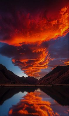 The Sky's on Fire - Moke Lake, South Island, New Zealand